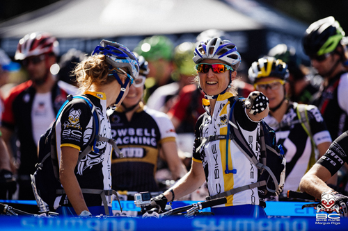 Catharine Pendrel (Luna Chix) has returned to the BC Bike Race with a new teammate.
