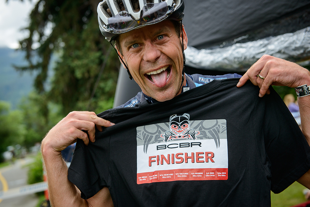 Finisher racer with shirt